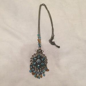 Silver tone Boho style necklace